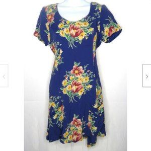 Betsey Johnson Vintage Floral Mini Dress 8 Pockets